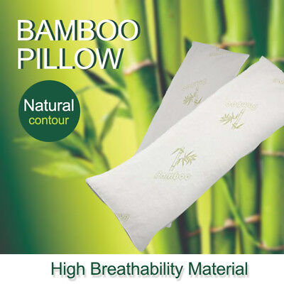 Long BAMBOO Body Pillow Memory Foam Firm Natural Maternity Pregnancy Support