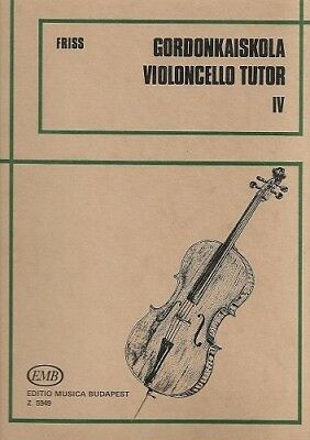 Partition pour violoncelle - Antal Friss - Violoncello Tutor - Volume 4