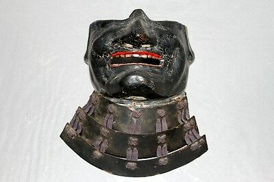 "Antique Japanese ""menpou""armor Of Samurai  Edo Era"