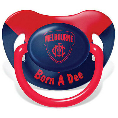 Melbourne Demons AFL Infant Baby Dummy Pacifier New Born Baby Loosing Team Gift