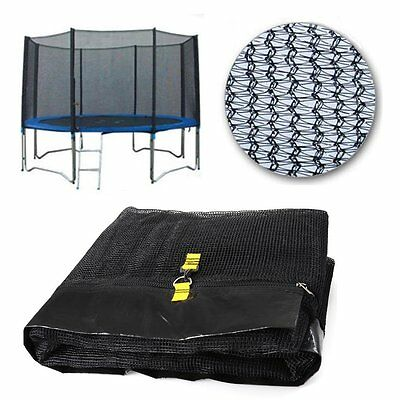 12Ft  8 Poles Replacement Trampoline Safety Net Only Enclosure Surround