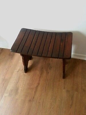 antique arts and crafts piano stool.