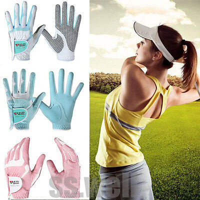 1 Pair PGM Golf Gloves Lady Non-slip Microfiber Padded Gloves Breathable XS-XL