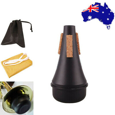 Lightweight Trumpet Practice Mute Silencer Musical +Cleaning Cloth +Bag Plastic