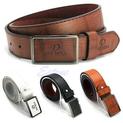 Luxury Leather Automatic Buckle Belt Casual Men's Waist Strap Belts Waistband