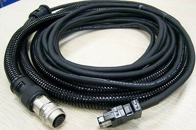 NEW For MITSUBISHI CNV2E-9P 15M Encoder Feedback Cable+Protective Tube #H273B YD