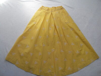 VINTAGE 1950s BRODERIE ANGLAISE DRINDLE SKIRT - ROCKABILLY !