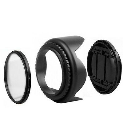 55mm UV Filter+ Lens Cap+ Lens Hood KIT for Nikon D5500 D5300 D5600 D3400 AF-P