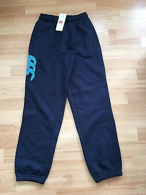 Canterbury Core Cuffed Sweatpant Navy Fleece Lined Elasticated Pants Age 10 Yrs