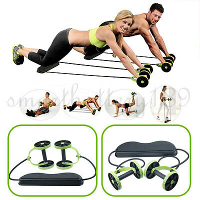 New 2017 ABS Abdominal Exercise Wheel GYM Fitness Body Strength Training Roller