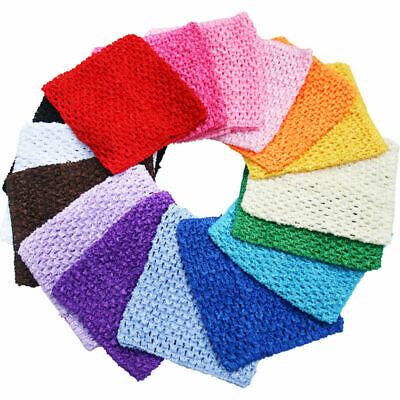 "9"" Crochet Tube Top Elastic Waistband Headband Hair Band Girls Tutu Skirt"