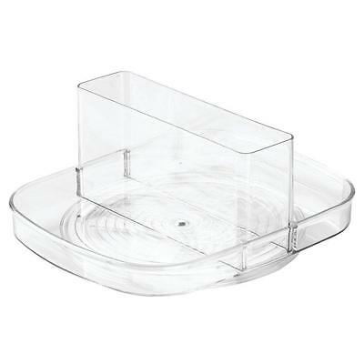 InterDesign Linus Lazy Susan Turntable Napkin and Condiments Holder Clear