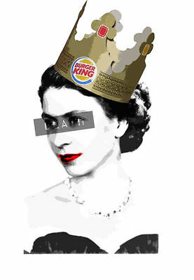 Death Nyc - Limited Edition Signed Print - 'burger Queen' [Dismaland Banksy]