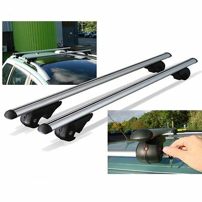 FORD RANGER  Aluminium Aero Roof Rack Bars Locking Cross Rails