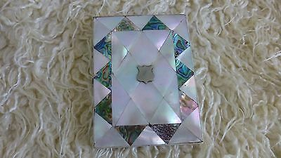 Ornate Vintage Mother of Pearl Card/ Note Case