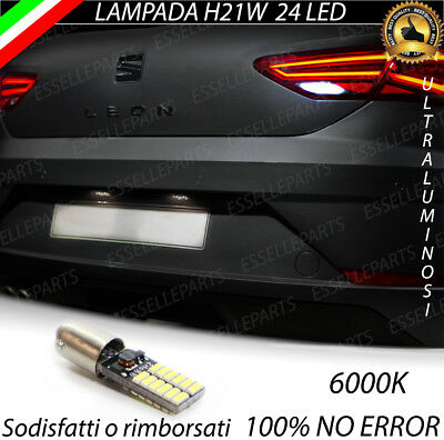 Lampada Retromarcia 49 Led H21W Bay9S Canbus Seat Leon 5F Restyling 6000K