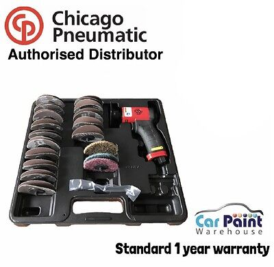 "Chicago Pneumatic CP7202D 2"" & 3"" Pistol Grip Roloc Pad Sander Smart Repair KIT"