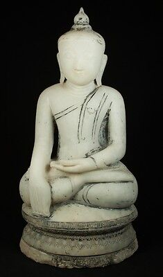 Middle 20th Century Old marble Buddha statue from Burma | Antique Buddha Statues