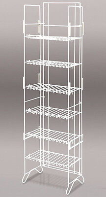 Snack Candy Chips Display Wire Rack Compact Floor Merchandiser 6-Shelf White NEW