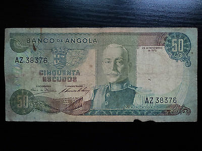 Angola 50 Escudos 1972, Circulated Banknote