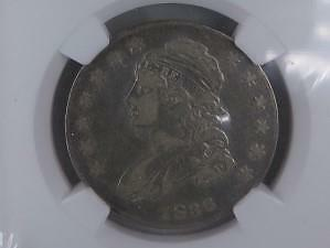 1836 50C Capped Bust Half Dollar. NGC Certified Choice VF30. Nice Eye Appeal.
