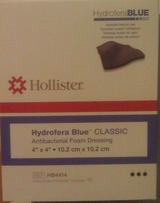 """Hydrofera Blue Bacteriostatic Wound Dressing 4""""x 4"""" 10 ct Expires 8/2019"""
