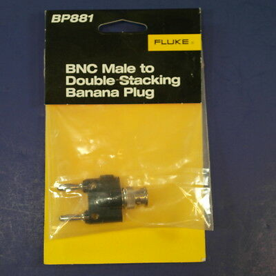 Brand New Fluke BP881 BNC Male to Double Stacking Banana Plug