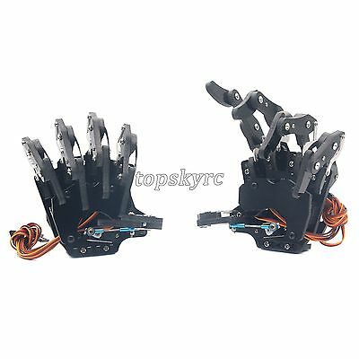Mechanical Claw Clamper Gripper Arm Right & Left Hand with Servos for Robot DIY