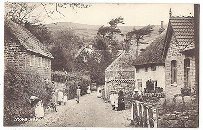 STOKE ABBOTT Dorset, Village and Villagers, Old Postcard Postally Used 1908