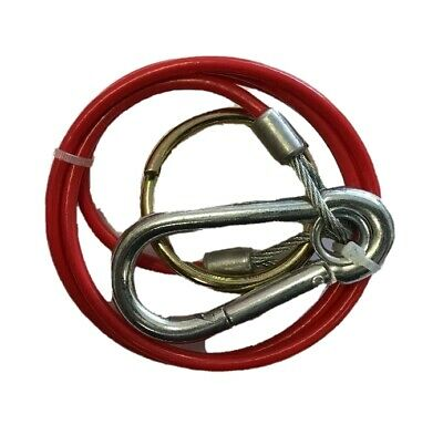 Trailer Breakaway Cable Pvc Red With Burst Ring For Caravan Maypole Mp501B