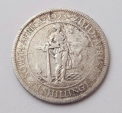 Dated : 1923 - One Shilling - South Africa - King George V - Coin