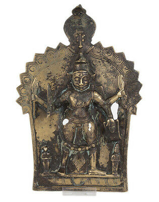 Indien 19. Jh. Relief - An Indian 'Western Deccan' Virabhadra Bronze Plaque Inde
