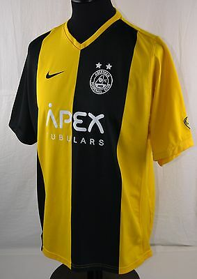 Aberdeen FC Away Short Sleeve Football Shirt L FOSTER 14 Nike Black Gold Yellow