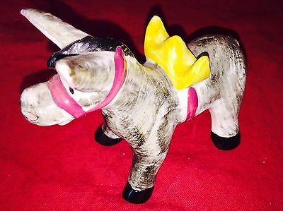 "Ceramic Donkey 4-1/2"" Figurine JAPAN"