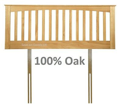 100% Genuine solid oak headboard bedhead end.Oak wood wooden, woodern shaker