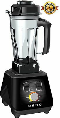 Berg 1500W 2Hp Commercial Food Blender Smoothie Maker Ice Crush Rrp £299 - Black