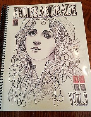 Felipe Andrade Vol 3 Tattoo sketchbook HUGE 105+ pages illustrative neo trad