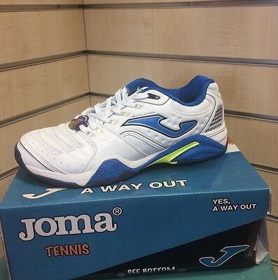 Joma All Court White-Blue Tennis Shoe Size 8