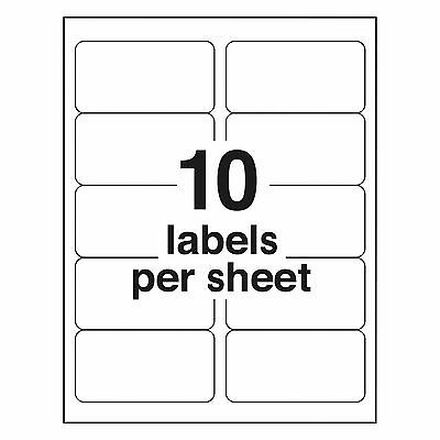 250 Address Labels 4X2 Address Template 18163,5163,8163 -  Laser/Ink Jet