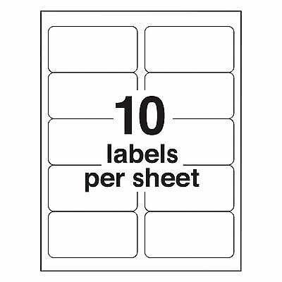 2500 Address Labels 4X2 Address Template 18163,5163,8163 -  Laser/Ink Jet