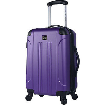 "Travelers Club Luggage Deanne 20"" Cup-Holder Hardside Hardside Carry-On NEW"