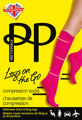 Pretty Polly Light Compression Knee High Socks travel flight socks DVT