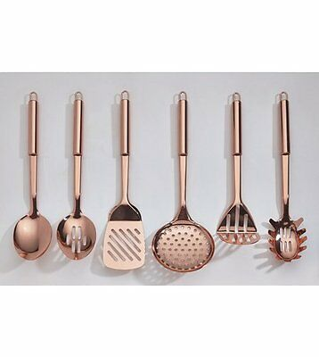 6-Piece High Gloss Copper Plated Kitchen Tool Set - Brand New