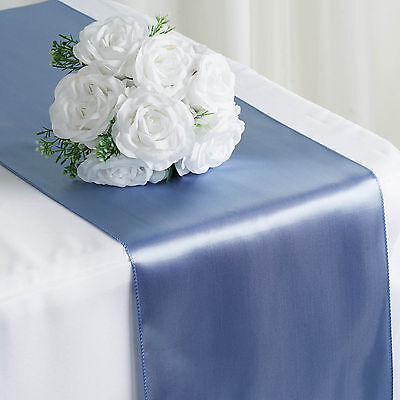 """Periwinkle SATIN 12x108"""" Table RUNNER Wedding Party Catering Dinner Decorations"""