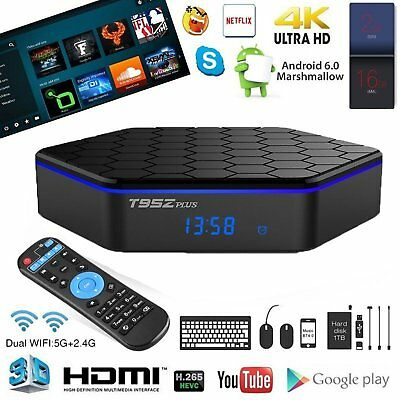 T95Z PLUS Android 6.0 Wifi 2G+16G Amlogic S912 Octa Core Bluetooth Player TV Box