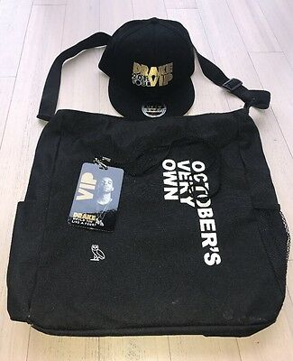 Drake Octobers Very Own Tour Merchandise VIP Pack Bag, SnapBack 2013