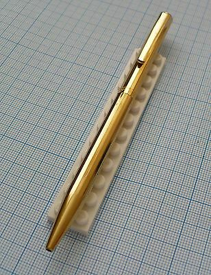 vintage WATERMAN FACETTE BALLPOINT plaque OR G gold plated made in France