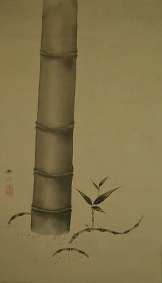 Hanging Scroll Bamboo Japanese Painting Antique Antique Japan Asian Art ink a222