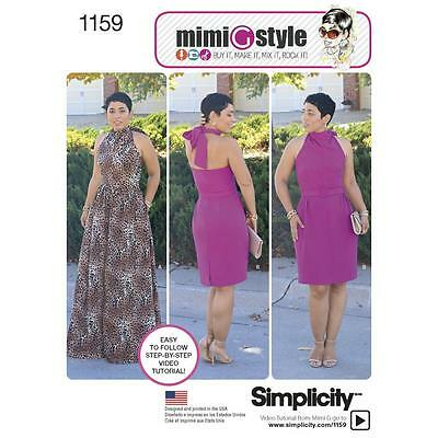 SIMPLICITY Sewing Pattern Miss Plus Dress MIMI G STYLE Collection~1159 Sz 16-24