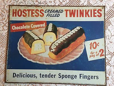 "Hostess Cream Filled Twinkies Metal Sign 12X15"" 2003 Reproduction"